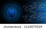 safety concept  closed padlock... | Shutterstock .eps vector #1110075539