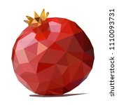 polygonal pomegranate vector | Shutterstock .eps vector #1110093731