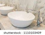 modern wash basin sink counter... | Shutterstock . vector #1110103409