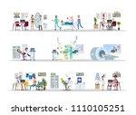 hospital city building interior ... | Shutterstock .eps vector #1110105251