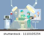 children hospital building with ... | Shutterstock .eps vector #1110105254