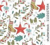 christmas vector seamless... | Shutterstock .eps vector #1110107054