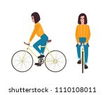 young woman or girl dressed in... | Shutterstock .eps vector #1110108011