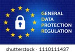 gdpr concept illustration with... | Shutterstock .eps vector #1110111437
