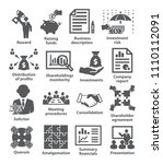 business management icons pack...   Shutterstock . vector #1110112091