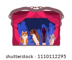 hand puppets or animals... | Shutterstock .eps vector #1110112295