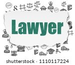 law concept  painted green text ... | Shutterstock . vector #1110117224