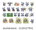 set kit collection vector... | Shutterstock .eps vector #1110117941