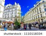 paris  france  october 05 2017  ... | Shutterstock . vector #1110118334