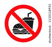 no food or drink allowed sign ... | Shutterstock .eps vector #1110118931