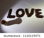 morning coffee  the concept of... | Shutterstock . vector #1110119471