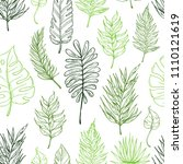 seamless pattern with tropical... | Shutterstock .eps vector #1110121619