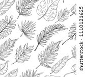 seamless pattern with tropical... | Shutterstock .eps vector #1110121625