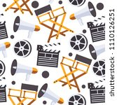 seamless pattern with film... | Shutterstock .eps vector #1110126251