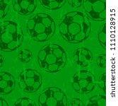 soccer ball seamless pattern ... | Shutterstock .eps vector #1110128915