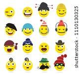 creative emoji emoticons 6   Shutterstock .eps vector #1110130325