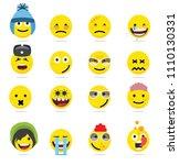 creative emoji emoticons ...   Shutterstock .eps vector #1110130331