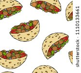 seamless endless pattern with... | Shutterstock .eps vector #1110133661