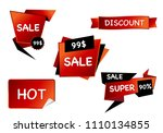 summer sale isolated vector... | Shutterstock .eps vector #1110134855