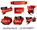 summer sale isolated vector...   Shutterstock .eps vector #1110134897