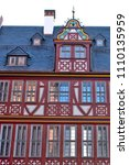 reconstructed half timpered... | Shutterstock . vector #1110135959