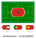 all games by moroccan soccer... | Shutterstock .eps vector #1110138905