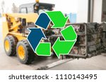 sign recycling waste. special...   Shutterstock . vector #1110143495