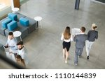 collaboration and analysis by... | Shutterstock . vector #1110144839
