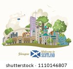 scotland travel vector in... | Shutterstock .eps vector #1110146807