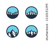 mountain logo design  vector... | Shutterstock .eps vector #1110151295
