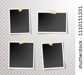 set of vintage photo frames... | Shutterstock .eps vector #1110151331