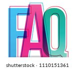 faq vector icon  help symbol.... | Shutterstock .eps vector #1110151361