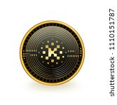 kin cryptocurrency coin isolated | Shutterstock .eps vector #1110151787