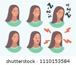 vector cartoon illustration of... | Shutterstock .eps vector #1110153584