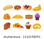 cookie cakes tasty snack... | Shutterstock .eps vector #1110158591