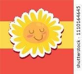 cartoon style happy sun... | Shutterstock .eps vector #1110164645