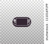 handheld portable game console  ... | Shutterstock .eps vector #1110169199