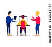 planning  teamwork  office life ... | Shutterstock .eps vector #1110169484