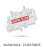 graphic design word background | Shutterstock .eps vector #1110176825