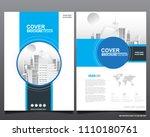abstract vector modern flyers... | Shutterstock .eps vector #1110180761