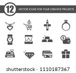 jewelry store vector icons for... | Shutterstock .eps vector #1110187367