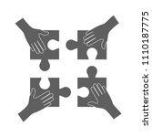 teamwork concept  hands holding ... | Shutterstock .eps vector #1110187775