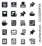 set of vector isolated black... | Shutterstock .eps vector #1110200954