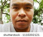 men's face portrait not... | Shutterstock . vector #1110202121