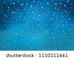 vector night starry sky...   Shutterstock .eps vector #1110211661