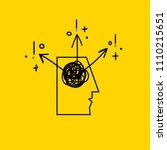 abstract icon creative idea ... | Shutterstock .eps vector #1110215651