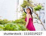 beautiful young woman in... | Shutterstock . vector #1110219227