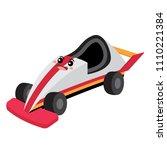 go cart transportation cartoon...   Shutterstock .eps vector #1110221384