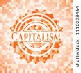 capitalism orange mosaic emblem   Shutterstock .eps vector #1110228464