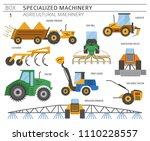 special agricultural machinery... | Shutterstock .eps vector #1110228557